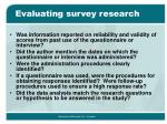 evaluating survey research1