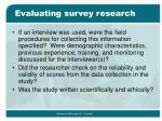 evaluating survey research2