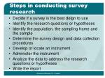 steps in conducting survey research
