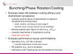 bunching phase rotation cooling
