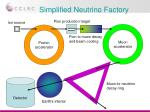 simplified neutrino factory