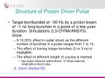 structure of proton driver pulse