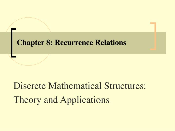 chapter 8 recurrence relations n.