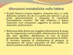 alterazioni metaboliche nella febbre1