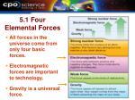 5 1 four elemental forces