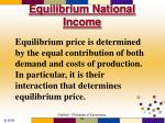 equilibrium national income
