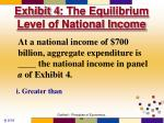 exhibit 4 the equilibrium level of national income1