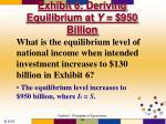 exhibit 6 deriving equilibrium at y 950 billion