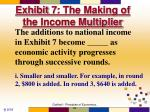 exhibit 7 the making of the income multiplier1