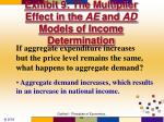 exhibit 9 the multiplier effect in the ae and ad models of income determination