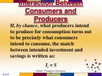 interaction between consumers and producers3