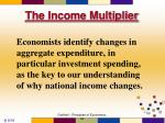 the income multiplier1