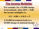 the income multiplier7