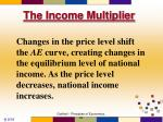 the income multiplier9