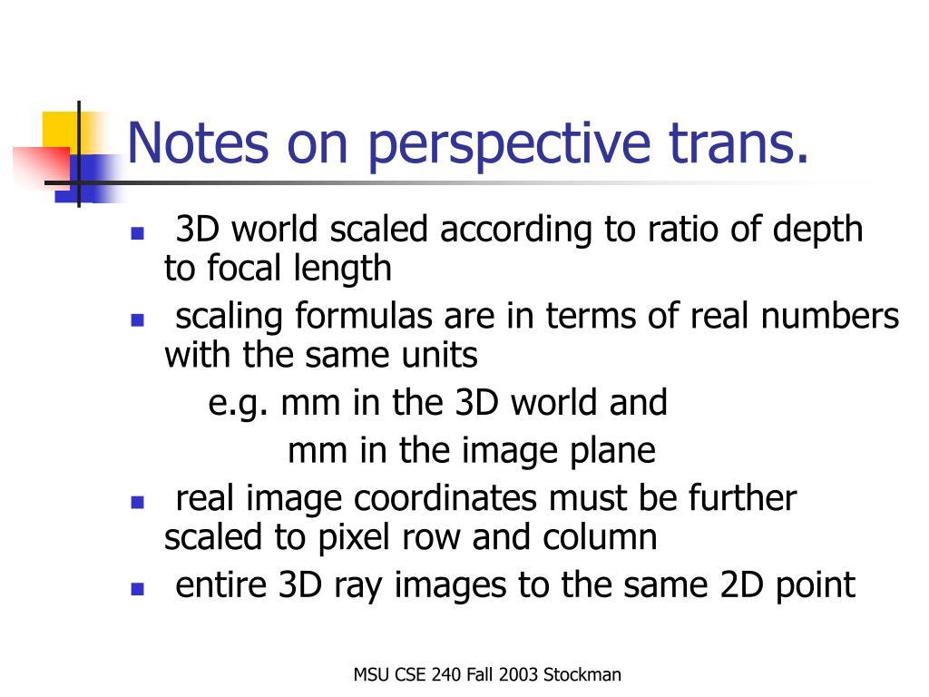 PPT - CV: 3D to 2D mathematics PowerPoint Presentation - ID:792609