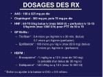 dosages des rx