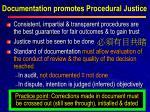 documentation promotes procedural justice
