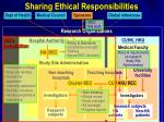 sharing ethical responsibilities