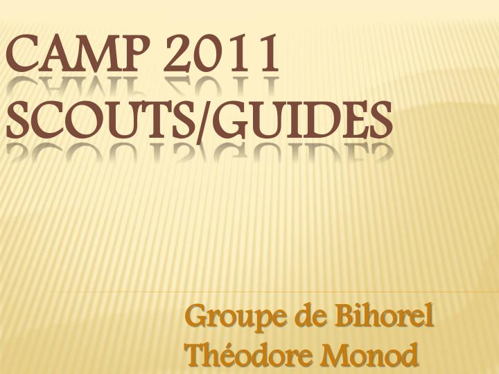camp 2011 scouts guides n.
