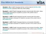 five wida elp standards