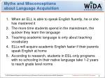 myths and misconceptions about language acquisition