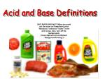 acid and base definitions