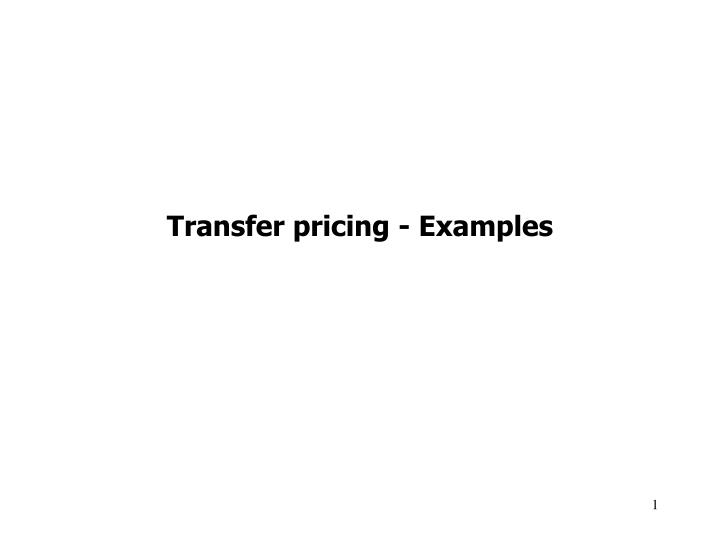 transfer pricing examples n.