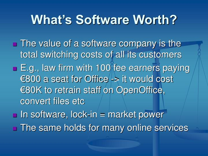 What's Software Worth?