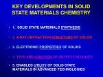key developments in solid state materials chemistry