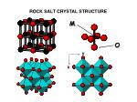 rock salt crystal structure