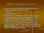 basic procedures con t