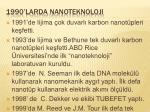 1990 larda nanoteknoloji