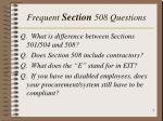 frequent section 508 questions