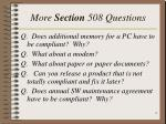 more section 508 questions