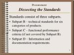 procurement dissecting the standards