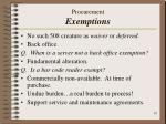 procurement exemptions