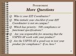 procurement more questions