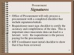 procurement signatures