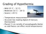 grading of hypothermia