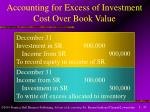 accounting for excess of investment cost over book value2