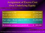 assignment of excess cost over underlying equity1