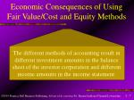 economic consequences of using fair value cost and equity methods