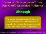 economic consequences of using fair value cost and equity methods2