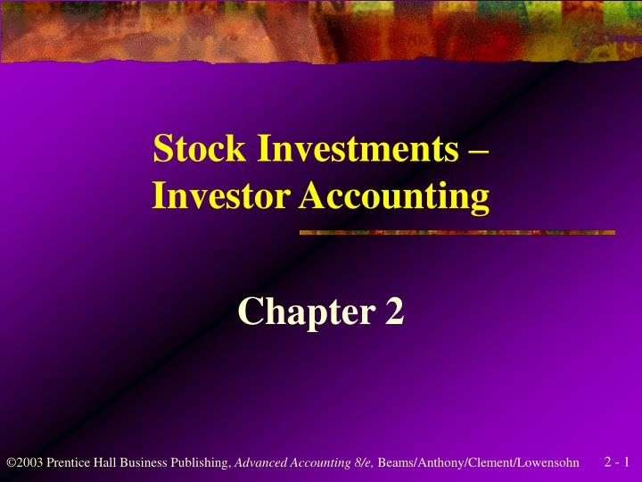 stock investments investor accounting n.