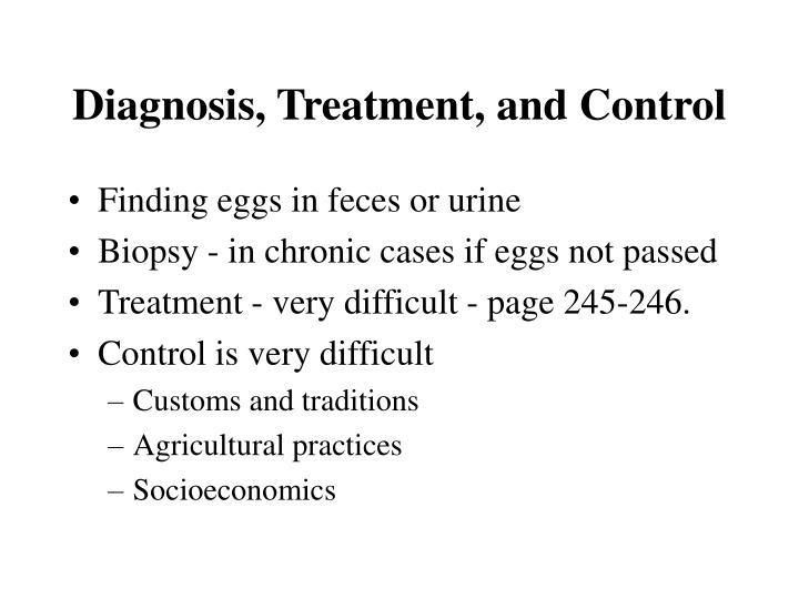 Diagnosis, Treatment, and Control