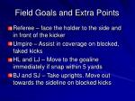 field goals and extra points1