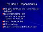 pre game responsibilities1