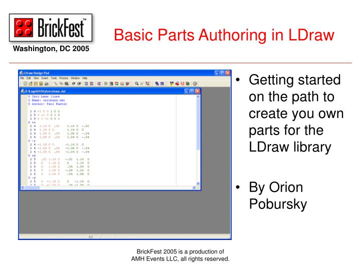 basic parts authoring in ldraw n.