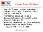 legacy color definition