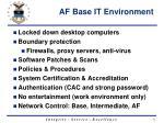 af base it environment